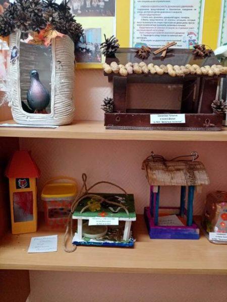 Выставка птичьих кормушек, поделки с родителями